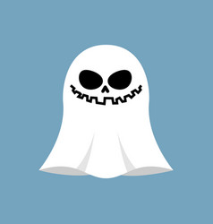 Ghost isolated white spook on blue background vector