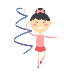 Girl gymnast vector