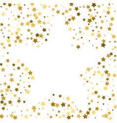 gold frame or border of random scatter golden vector image