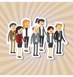 Graphic of businesspeople vector
