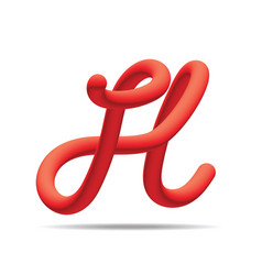 h letter red blending color design template vector image