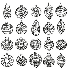 hand-drawn seamless pattern for christmas vector image