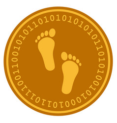 human steps digital coin vector image