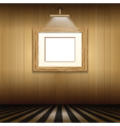 interior with blank picture frame vector image