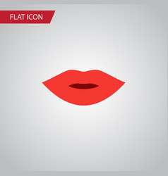 isolated lips flat icon pomade element can vector image
