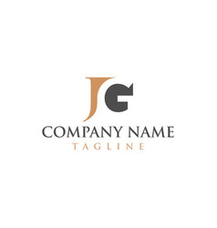 jg logo for law firms vector image