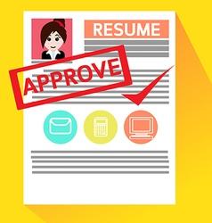 Job Interviews Good Luck for New Job vector