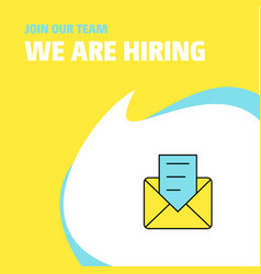 join our team busienss company message we are vector image