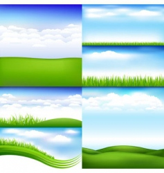 landscapes vector image vector image