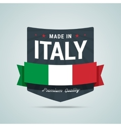 Made in Italy badge vector