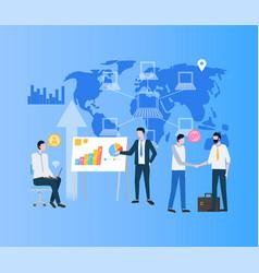 Modernizing business process businessman deal vector