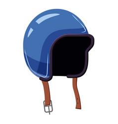 Motorcycle helmet icon cartoon style vector