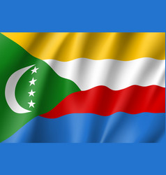 national flag of comoros vector image