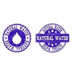 natural water grunge stamp seals vector image