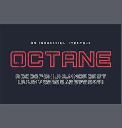 Octane display typeface font alphabet vector