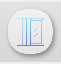 Panel tracks app icon vertical window coverings vector