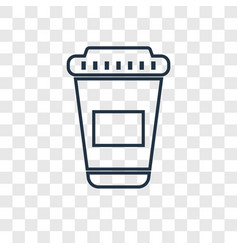 paper cup concept linear icon isolated on vector image