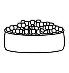 Pet dish with food vector