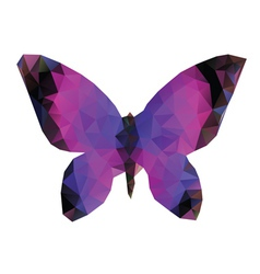 Polygonal butterfly vector