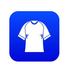 raglan tshirt icon digital blue vector image