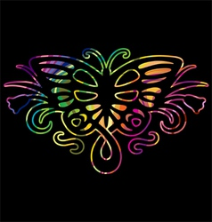 Rainbow butterfly in vector