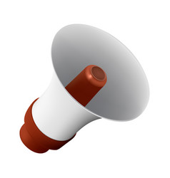 realistic loudspeaker or megaphone isolated on vector image