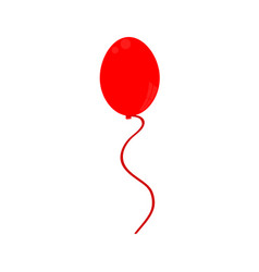 red balloon icon vector image