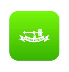 repair spray icon green vector image