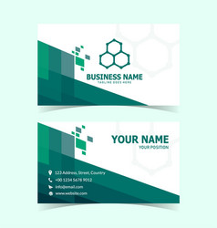 rhombus shaped modern and creative business card vector image