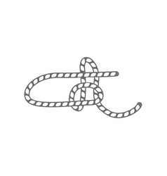 Rope slipknot isolated icon vector