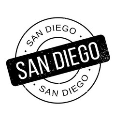 San diego rubber stamp vector