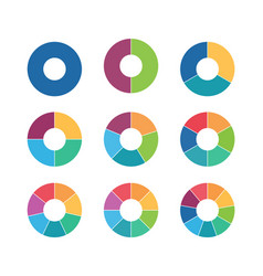 segmented circles collection circular diagrams vector image