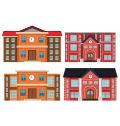 Set exterior buildings vector