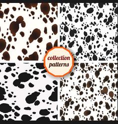 set of seamless pattern design animal print vector image