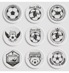 Set of Soccer Football vector