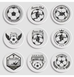 Set of soccer football vector