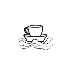 Ship mug coffee shop logo designs inspiration vector