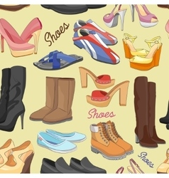 Shoes color pattern vector