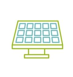 Solar panel icon vector