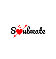 soulmate word text typography design logo icon vector image