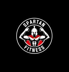 spartan warrior sports fitness logo emblem vector image