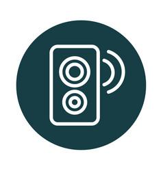 speaker music sound block style icon vector image