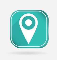 square icon pin location on the map vector image
