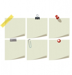 stationery icons vector image