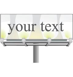 Street billboard vector