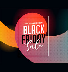 stylish black friday vibrant sale banner vector image
