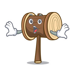 Surprised mallet mascot cartoon style vector