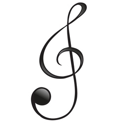 The g-clef symbol vector