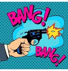 The gunshots gangster murder vector