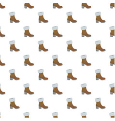 top winter shoe pattern seamless vector image